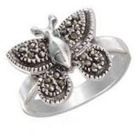 Marcasite Butterfly Ring