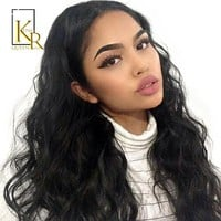 Cool Brazilian Body Wave Lace Front Human Hair Wigs For Women Natural Black Bleached Pre Plucked With Baby Hair Remy King Rosa QueenAT_93_12