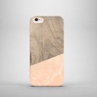 Wood pink marble case, iPhone 6s, 6s plus ,iPhone 6 Plus, iPhone 6, iPhone 5C, iPhone 5s, iPhone 4s, Samsung Galaxy S4,S5,S6,Note, iPad Mini