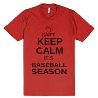 CAN'T KEEP CALM IT'S BASEBALL SEASON (red)-Unisex Red T-Shirt