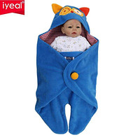 Newborn 0-18 Months Swaddle Wrap Fleece Blanket Sleeping Bag Fleece