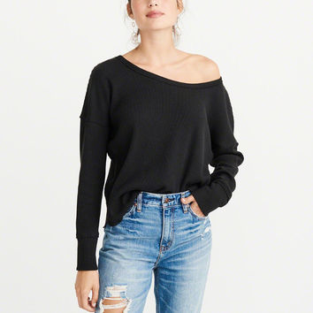 Womens Cozy Long-Sleeve Thermal | Womens Tops | Abercrombie.com