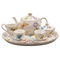Karly's Butterflies Girl's Tea Set - Free Tea Included!