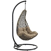 Black Mocha Abate Outdoor Patio Swing Chair