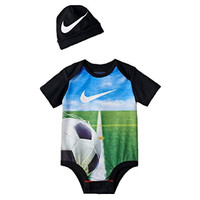 Nike Baby Boys' 2 Piece Soccer Ball Bodysuit and Hat Set (3-6 Months)