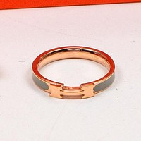 Perfect Hermes Women Fashion Diamonds Plated Ring Jewelry