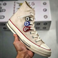 Converse high 10th anniversary limited couple shoes sneakers canvas shoes F-A50-XYZ