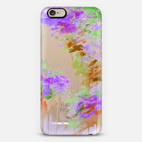 WHISPERED SONG 3 - Elegant Abstract Fine Art Painting Fall Autumn Floral Flowers Green Lavender Purple Rust Brown Metallic Shimmer Chic Transparent iPhone 6 case by Ebi Emporium   Casetify