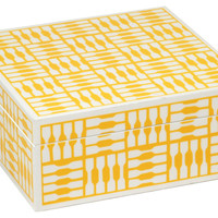 Trinket Box, Yellow, Large, Jewelry Boxes & Chests