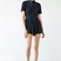 Cooperative Button-Front Shirt Romper - Urban Outfitters