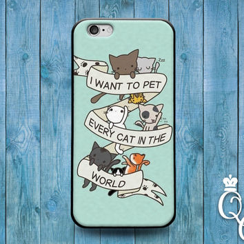 iPhone 4 4s 5 5s 5c 6 6s plus + iPod Touch 4th 5th 6th Generation Cute Kitten Quote Phone Case Funny Kitty Cat Animal Lover Pet Fun Hipster