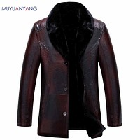 Jackets Coats Winter  Men's Leather Jackets Faux Leather Jackets Thicken Overcoat For Male Clothing