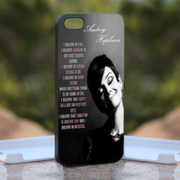 Audrey Hepburn quotes pink - Design available for iPhone 4 / 4S and iPhone 5 Case - black, white and clear cases
