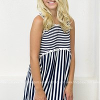 Preppy Striped Babydoll Top