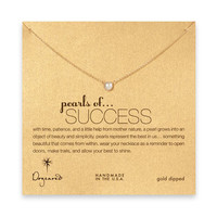 pearls of success white pearl necklace, gold dipped
