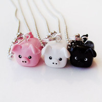 Special Three Little Pigs Best Friend Necklace by MadAristocrat
