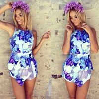 Summer Floral Print Romper/Playsuit
