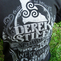 Teen Wolf T-Shirt - Derek and Stiles School for Teens Who Can't Werewolf - Hand Screen Printed