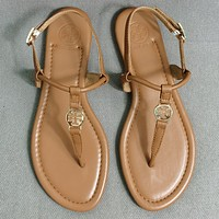 TORY BURCH[tb] New style square slippers