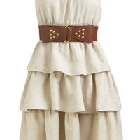 Tiered Belted Tube Dress  | Shop Just Arrived at Wet Seal