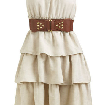 Tiered Belted Tube Dress    Shop Just Arrived at Wet Seal