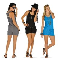 """Revamp"" Solid Romper With Chest & Side Pockets"