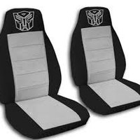 Autobot Car Seat Covers....Any Colour Striped Insert...All Cars