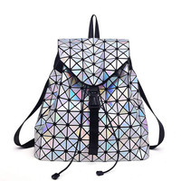 Geometric Sequin Holographic Backpacks