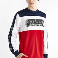 Stussy BMX Long-Sleeve Crew Neck Tee- Navy
