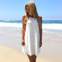 London Calling Lace Dress In Ivory