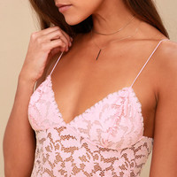 Lacey Pink Lace Brami