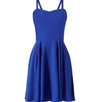 Blue Strappy Skater Dress