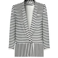 Veronica Beard Stripe Cardigan Jacket