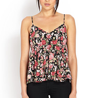 Be Seen Rose Print Cami
