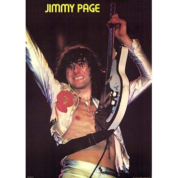 Led Zeppelin Jimmy Page Poster 19x27