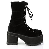 Demonia Matte Black Platform Goth Punk Gogo Calf Boot