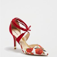 Rose Lace-Up D'Orsay Heel by Qupid®