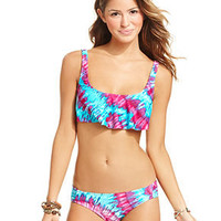 Bikini Lab Swimsuit, Tie-Dye Bikini Top & Tie-Dye Hipster Brief Bottom - Swimwear - Women - Macy's