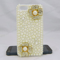 Flowers iPhone case,Pearl bling iPhone case,iphone 6 case,iphone 6 Plus,iphone 5/5S/5c,iphone 4 case samsung galaxy S3/S4/S5 case,note3 case