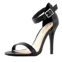 NLY Shoes Women's High Heel Sandal Nude Size EU 42 fabric. pu leather interior. rubber outsole.