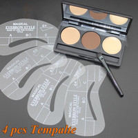 1Set New Eyebrow Stencil Eye Brow Kit Styles Liner Shaper Make Up Template Set of Beauty
