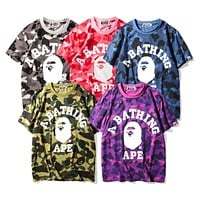 Boys & Men Bape Camouflage Tunic Shirt Top Blouse
