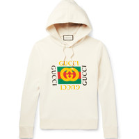 Gucci - Printed Loopback Cotton-Jersey Hoodie