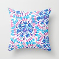 tie dye; Throw Pillow by Pink Berry Patterns