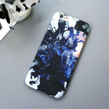 Marble Stone Slim Matte Hard Plastic Phone Back Cover Case For iPhone X 8 SE 6 6s Plus +gift box