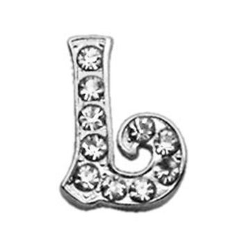 "3/8"" Clear Script Letter Sliding Charms L ."