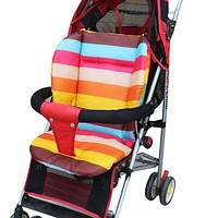 Baby Stroller Seat Cushion Rainbow Color Thickening Baby Carriage Umbrella Cart Trolley Cushion Infant Car Pad Pram Mattress