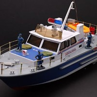 """21"""" R/C Super Police Boat Radio Controlled Electric Powered RC Ocean Guard"""