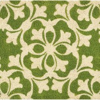 Waverly Greetings Courtyard Green Doormat by Nourison