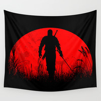 Geralt of Rivia - The Witcher Wall Tapestry by TxzDesign